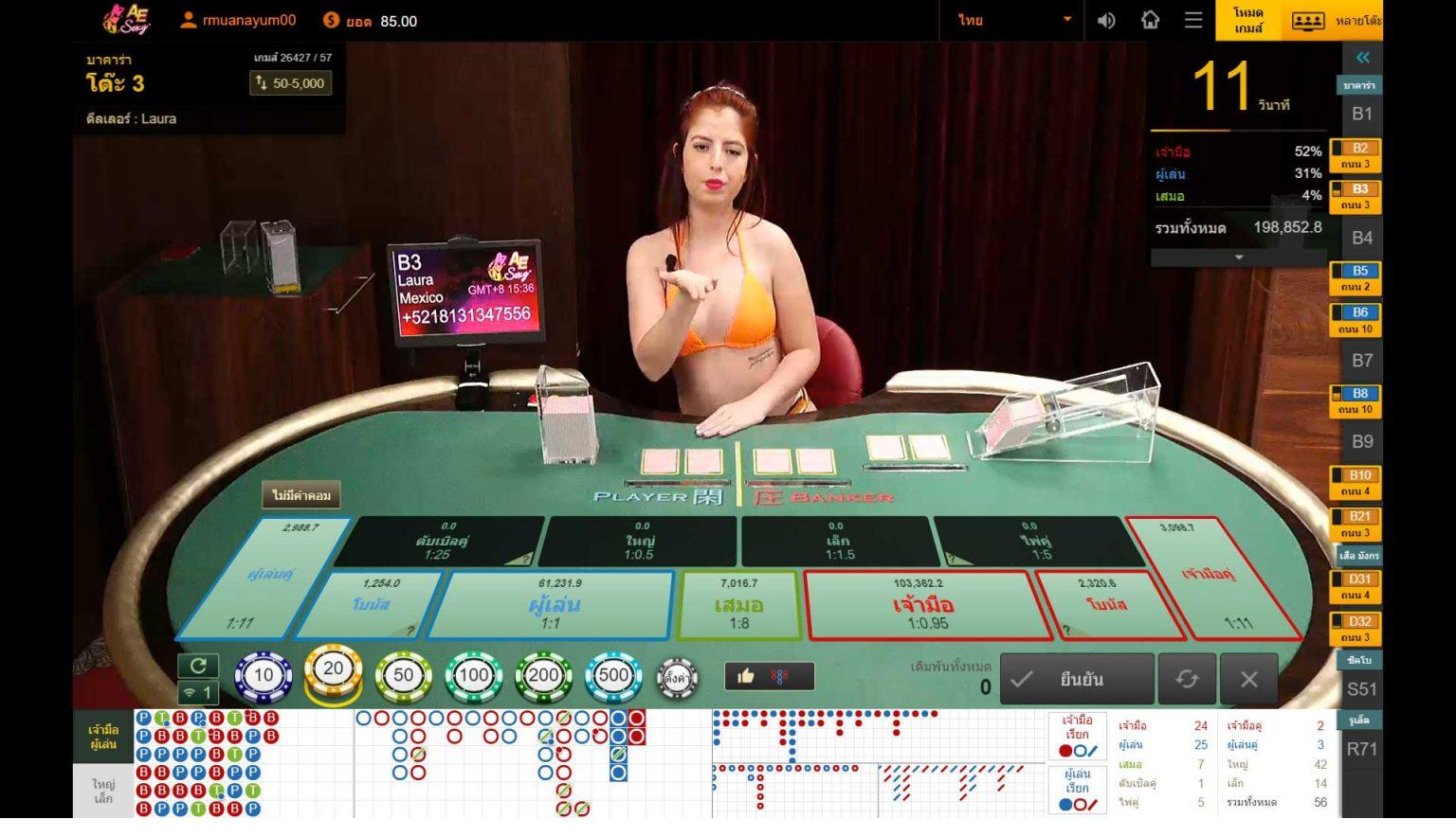 ค่ายเกม Sexy Baccarat